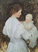 E.Phillips Fox Mother and child oil painting picture wholesale